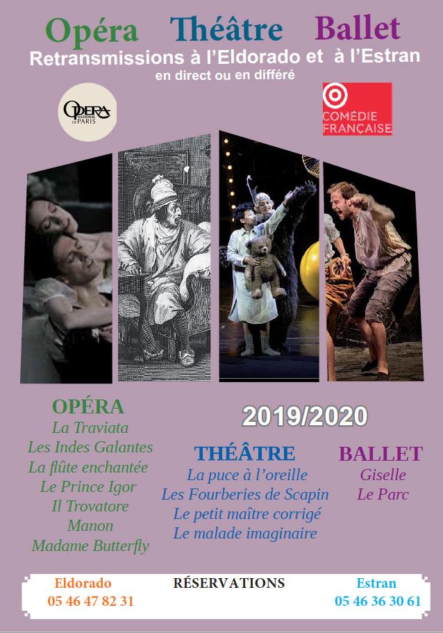 Retransmissions opéra, ballet, théâtre Oléron et Marennes