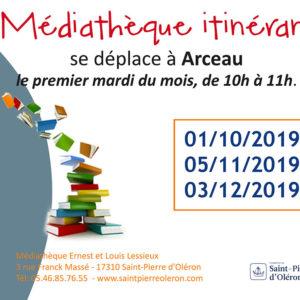 Médiathèque itinérante à Arceau, île d'Oléron