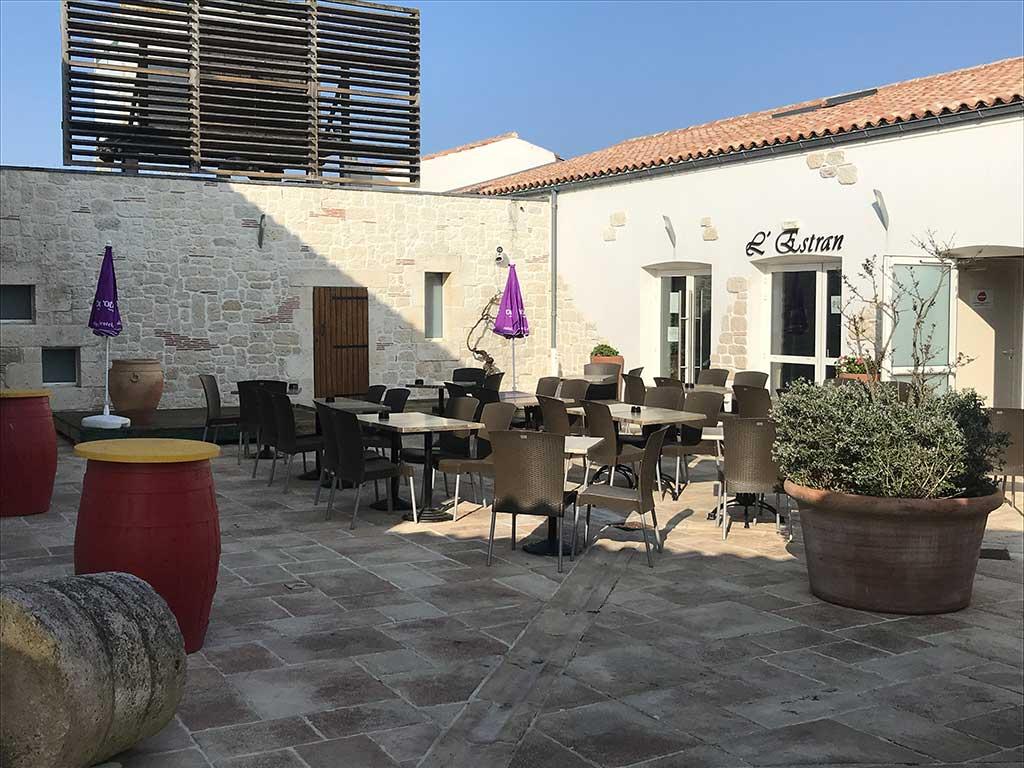 La Jonchaie, bar, la terrasse, île d'Oléron