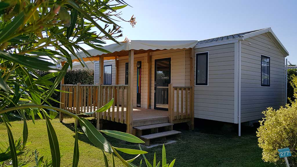Camping les 4 Vents Oléron, location chalet, mobil-home