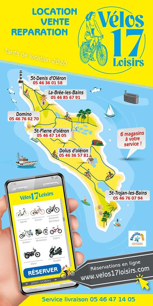 Vélos 17 - 6 magasins sur l'île d'Oléron