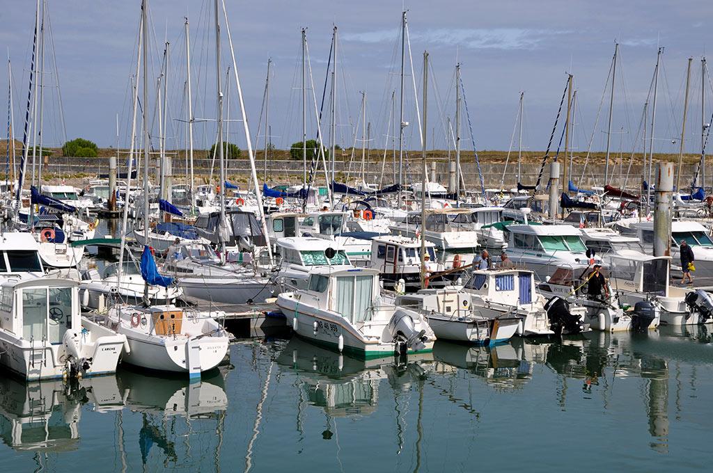 Bateaux dans le port du Douhet à Oléron