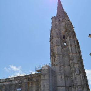 Visite du chantier de l'église de Marennes