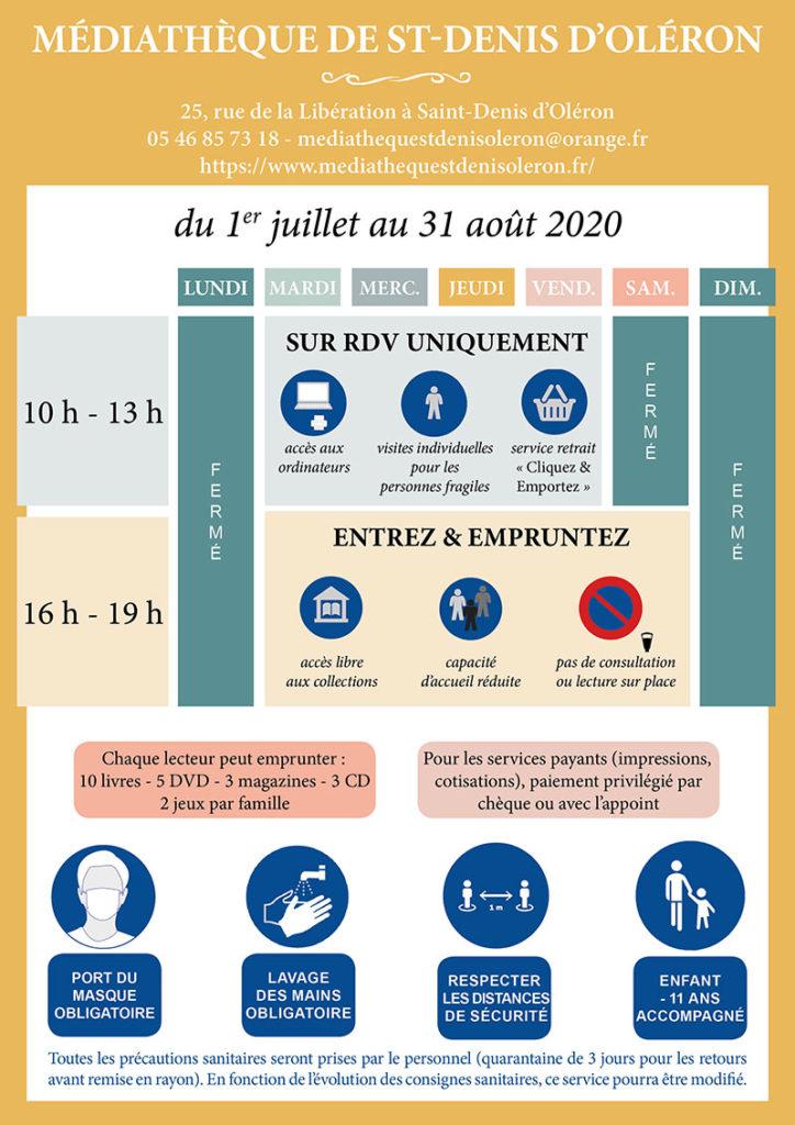 Médiathèque St-Denis d'Oléron - Infos COVID