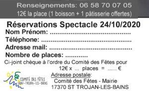 Inscription spectacle musical St-Trojan les Bains