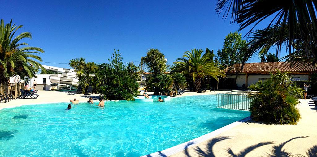 Camping Les Cabanes d'Oléron, la piscine