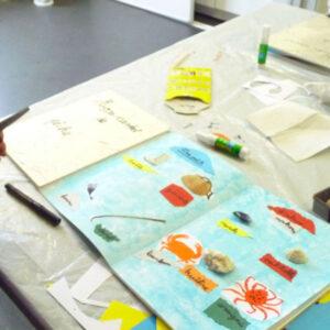 Atelier carnet de pêche au Musée de l'île d'Oléron