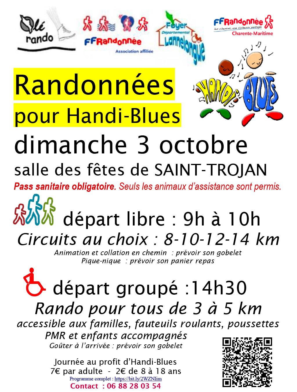 Randonnées pour Handi-Blues à Saint-Trojan. île d'Oléron